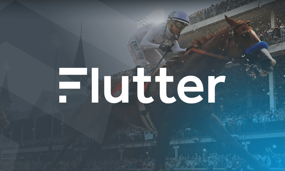 Image of a Jockey on a Horse, with the Flutter Logo displayed on top.